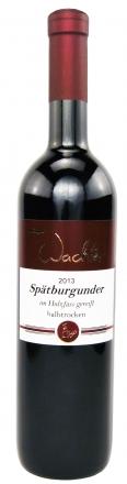 2013 Spätburgunder Rotwein halbtrocken im Holzfass gereift